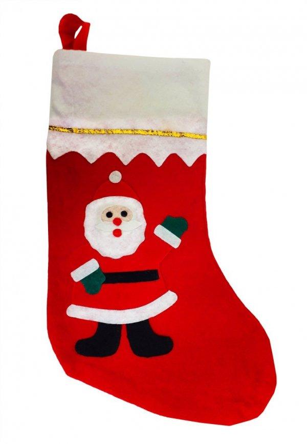 Skarpeta świąteczna Mikołaj na prezenty 35cm