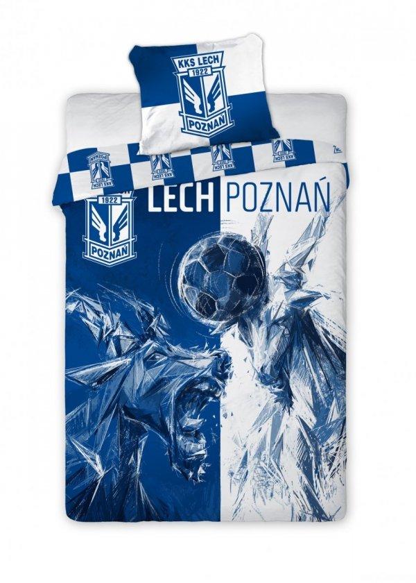 Pościel sportowa licencyjna 100% bawełna 160x200 lub 140x200 - Lech Poznań wz. 002