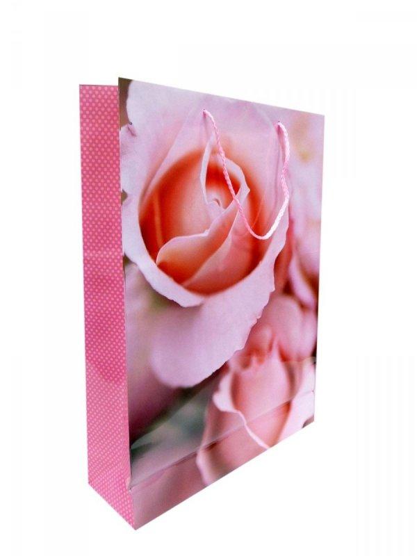 Ozdobne opakowanie, torebka na prezent 15x15 wz. Róża 02