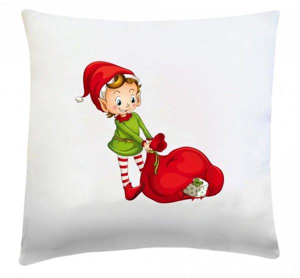 Poduszka świąteczna 40x40 wz. Elf Świąteczny