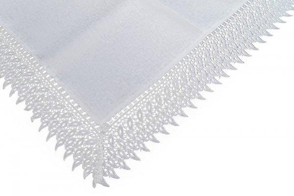 Obrus gipiurowy rozmiar 140x300 wzór biały (144)