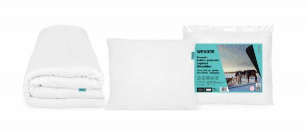 Komplet Laponia kołdra 155x200 + poduszka 50x60 Wendre - wyrób medyczny