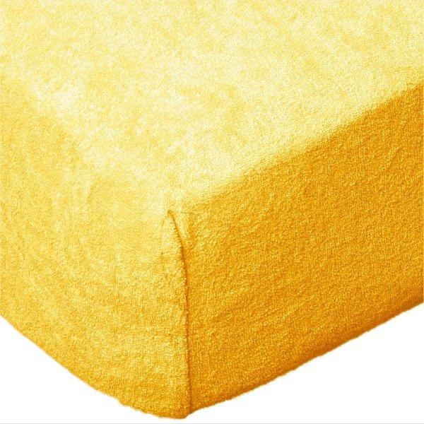 Grube Prześcieradło FROTTE 180x200 na gumkę wz. K06 żółty