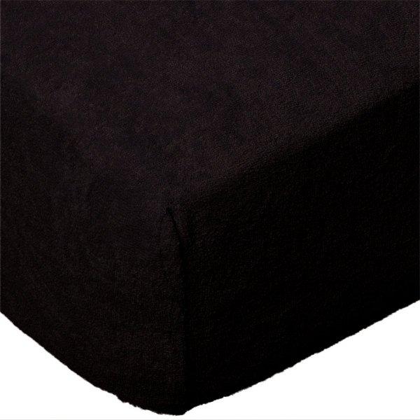 Grube Prześcieradło FROTTE 160x200 na gumkę wz. 027 czarny