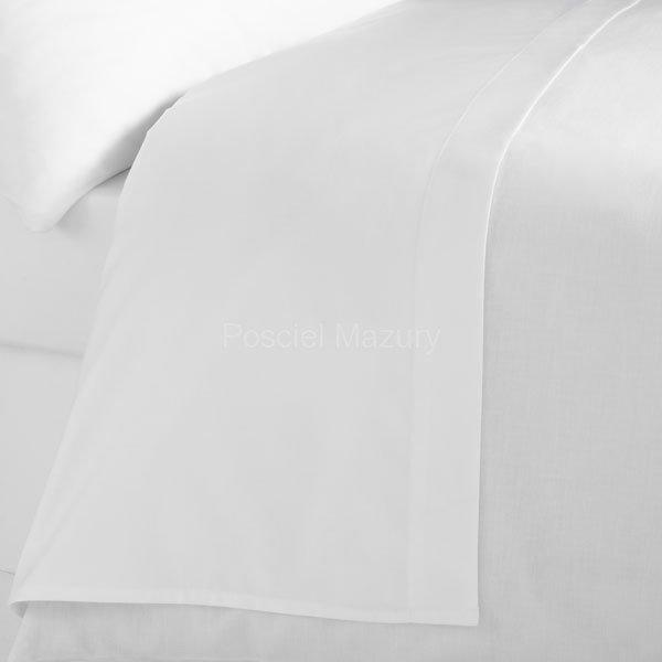 Prześcieradło białe hotelowe, hotel 160x200, 100% bawełna