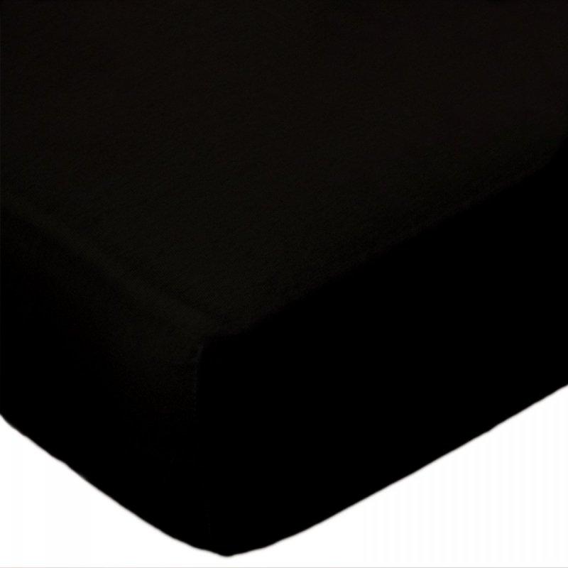 Prześcieradło jersey 160x200 z gumką wz. D027 (czarny)