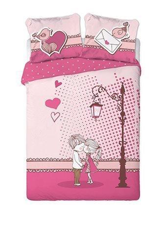 Pościel Walentynkowa 100% bawełna 160x200 lub 140x200 - dzieci 02