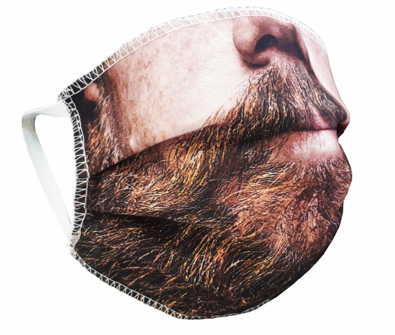 Maska z nadrukiem 2-warstwowa wielorazowa 60°C wz. 1 BRODA