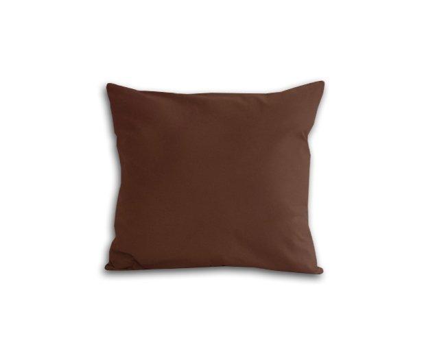 Poszewka na poduszkę 40x40 - 100% bawełna satynowa DARYMEX, zapięcie na zamek wz. brąz 80053
