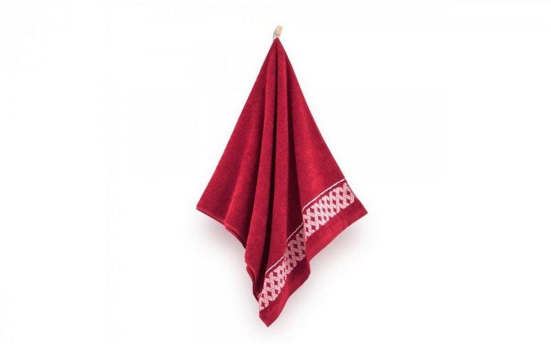 Ręcznik z bawełny egipskiej DRAGON 70x140 wz. magenta