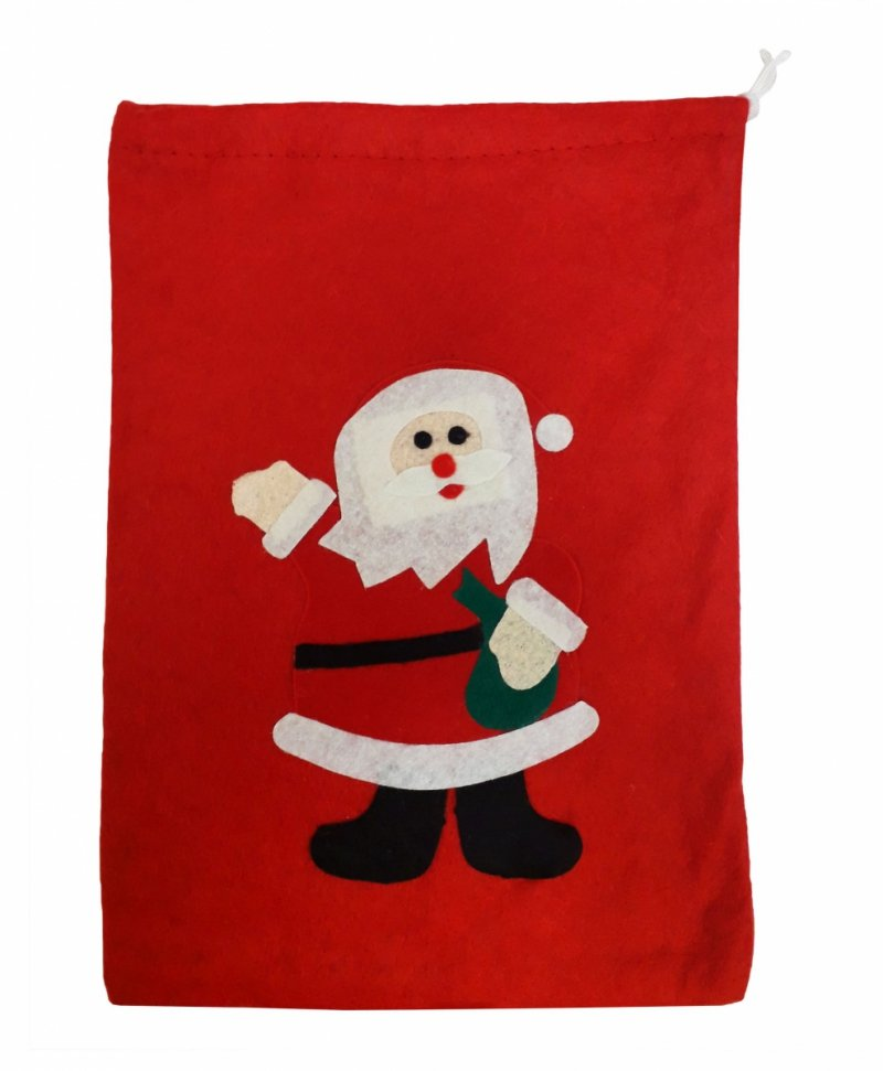 Worki na prezenty, worek Świętego Mikołaja mały roz. 30x20