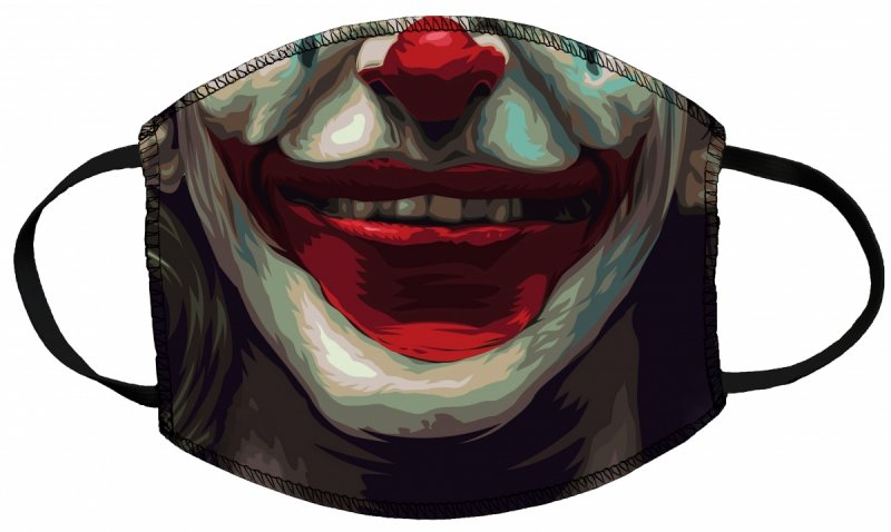 Maska z nadrukiem 2-warstwowa wielorazowa 60°C wz. 2 JOKER
