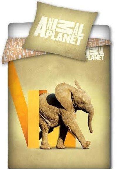 Pościel licencyjna Animal Planet 100% bawełna 160x200 - Słoń