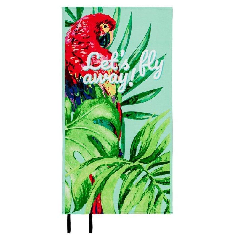 Ręcznik plażowy z gumką 90x170 wz. Papuga