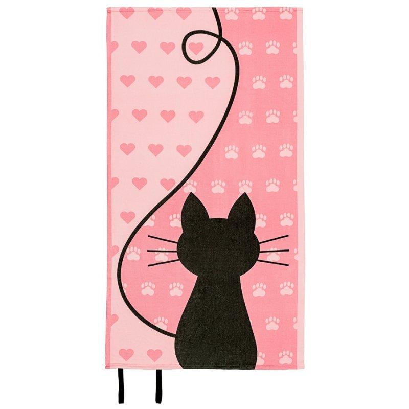 Ręcznik plażowy z gumką 90x170 wz. Kotek