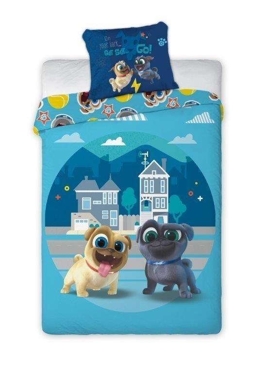 Pościel licencyjna Disney 100% bawełna 160x200 lub 140x200 - Puppy Dog Pals - wz. Bingo & Rolly 003
