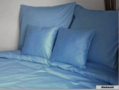 Poszewka na poduszki 40x40 satyna zapięcie na zamek DARYMEX wz. niebieski