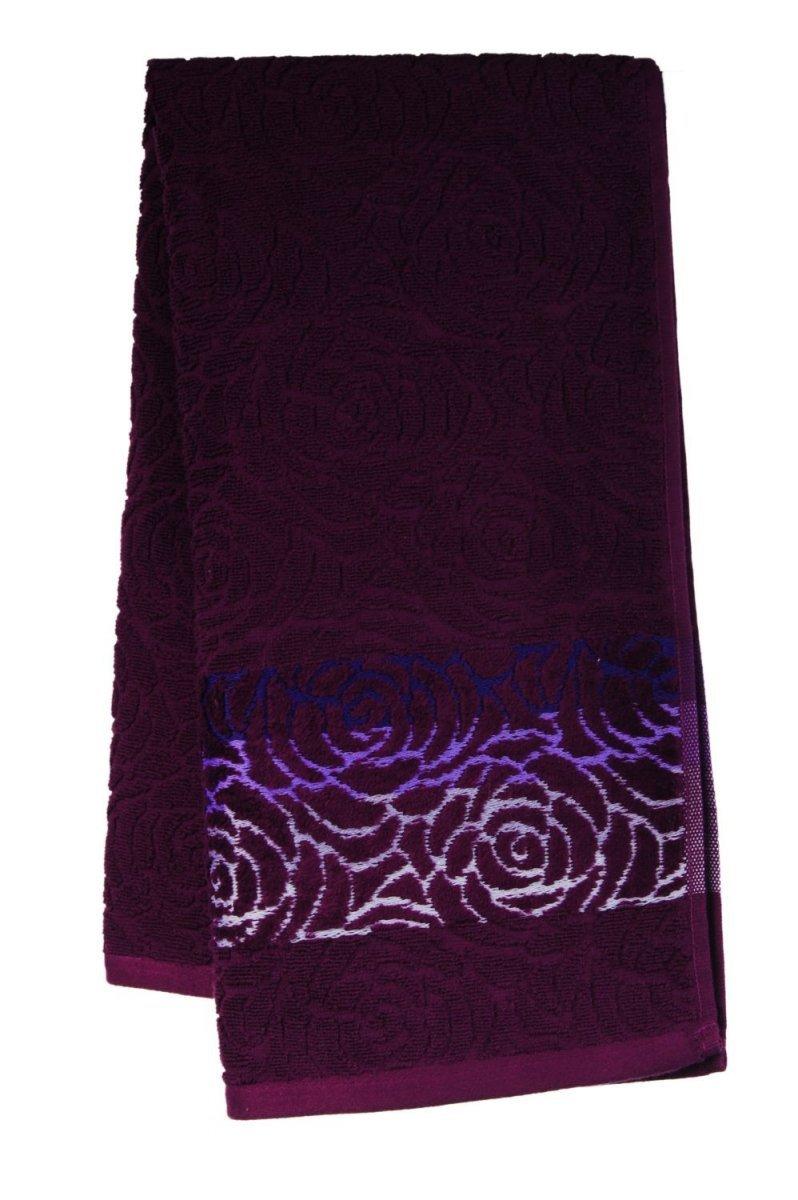 Ręcznik ROSSO 50x90 kolor jagodowy