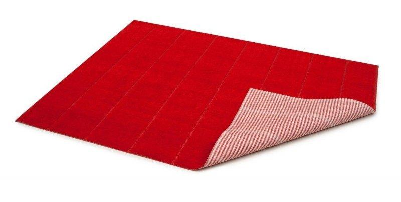 Dywanik łazienkowy prążki - antypoślizgowy 50x70 wz. P19 czerwony
