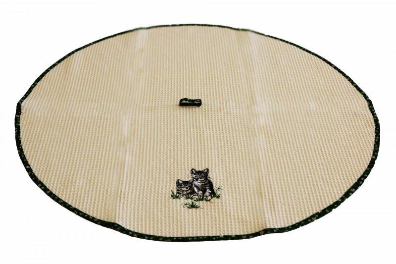 Ścierka kuchenna haftowana 75cm koło wz. 02 Koty
