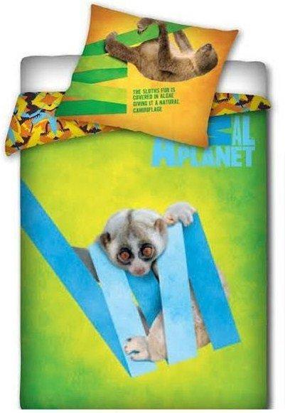 Pościel licencyjna Animal Planet 100% bawełna 160x200 - Lemur