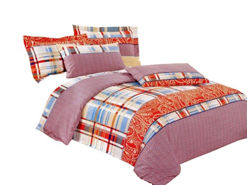 Pościel bawełna satynowa dwustronna 160x200 lub 140x200 wzór 5669