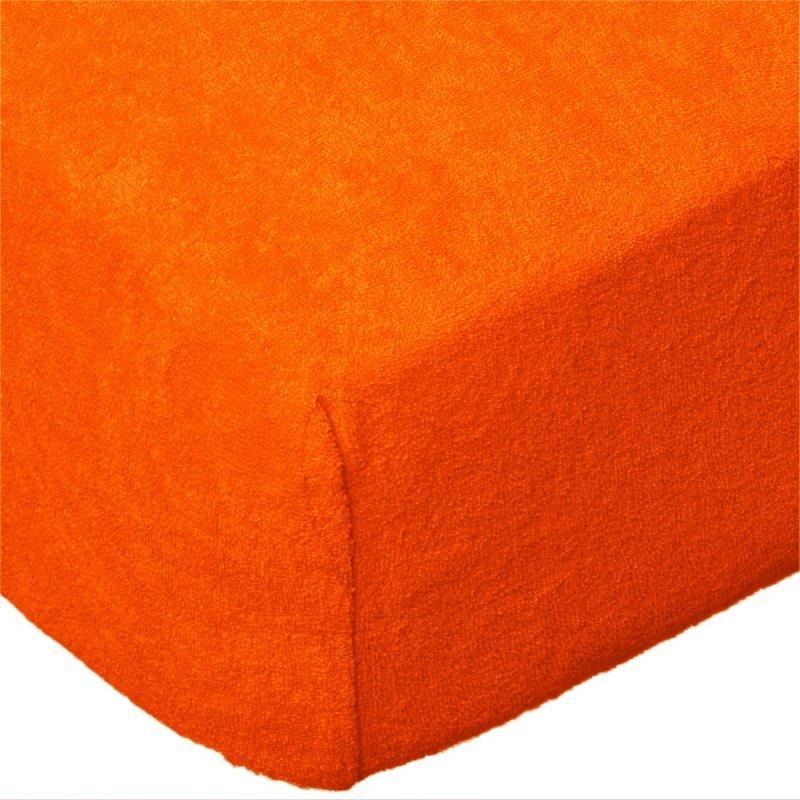 Grube Prześcieradło FROTTE 180x200 na gumkę wz. K31 pomarańczowy