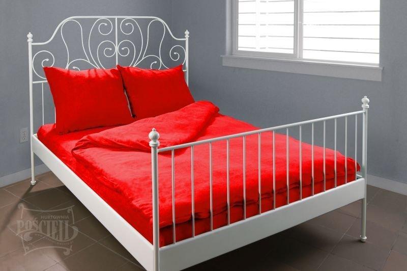 Pościel Frotte wz. 16 czerwony rozmiar 140x200