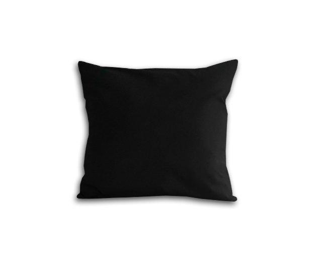 Poszewka na poduszkę 40x40 - 100% bawełna satynowa DARYMEX, zapięcie na zamek wz. czarny