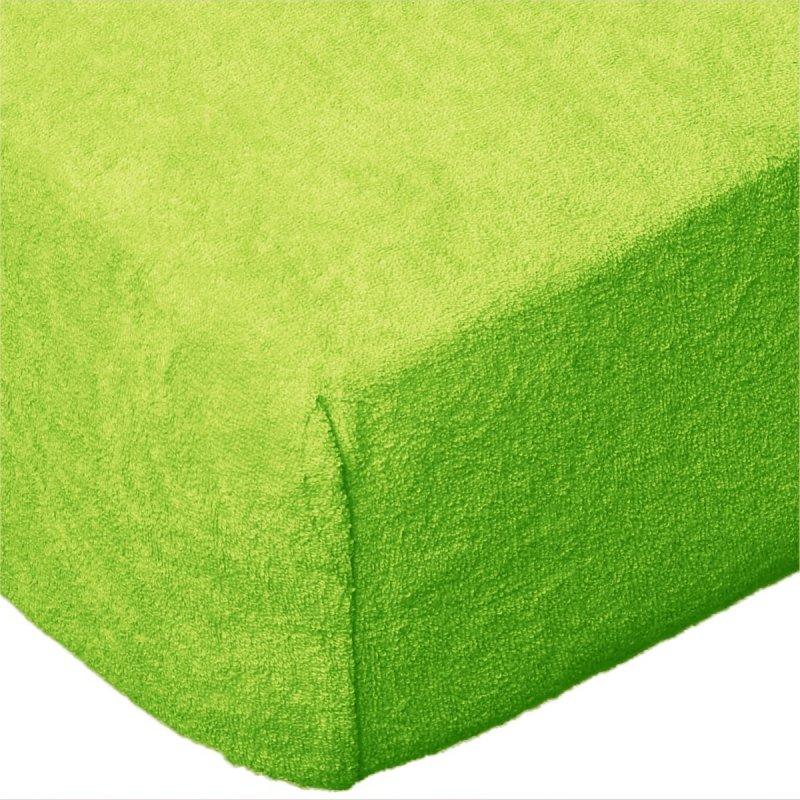 Grube Prześcieradło FROTTE 220x200 na gumkę wz. K29 zielone jabłuszko