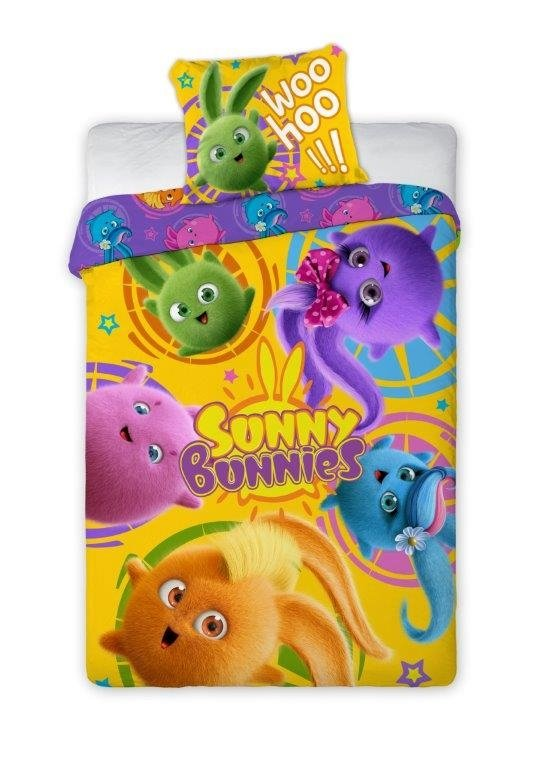 Pościel licencyjna Sunny Bunnies 100% bawełna 160x200 lub 140x200 - wz. 006