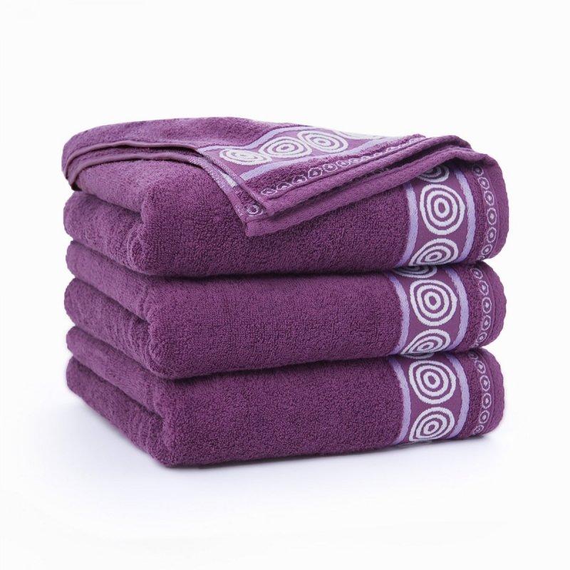 Ręcznik frotte Rondo 70x140 kolor śliwkowy