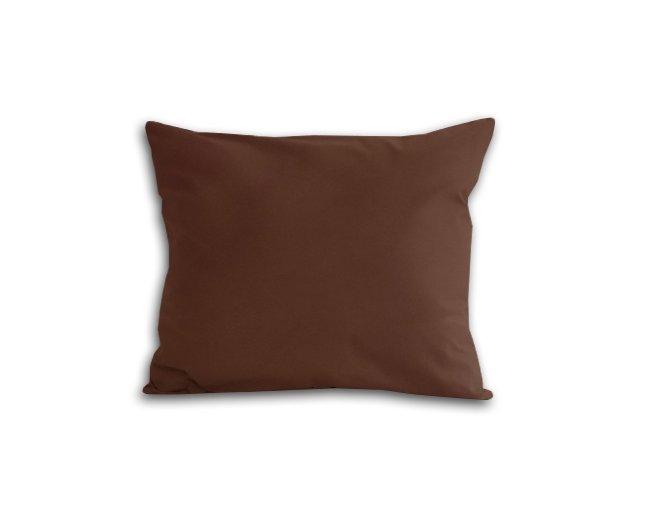 Poszewka na poduszkę 50x60 - 100% bawełna satynowa DARYMEX, zapięcie na zamek wz. brązowy