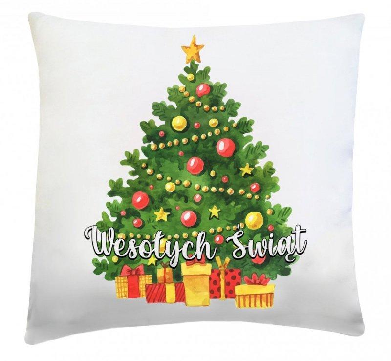Poduszka świąteczna 40x40 wz. Choinka 3