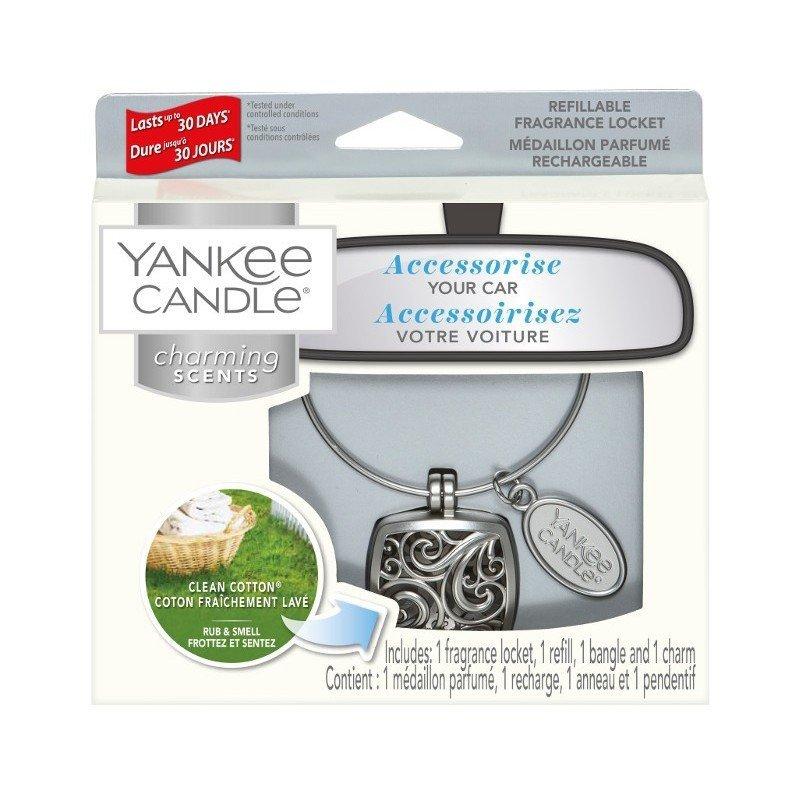 Zestaw z uzupełniaczem Yankee Candle Charming Scents Square - Clean Cotton
