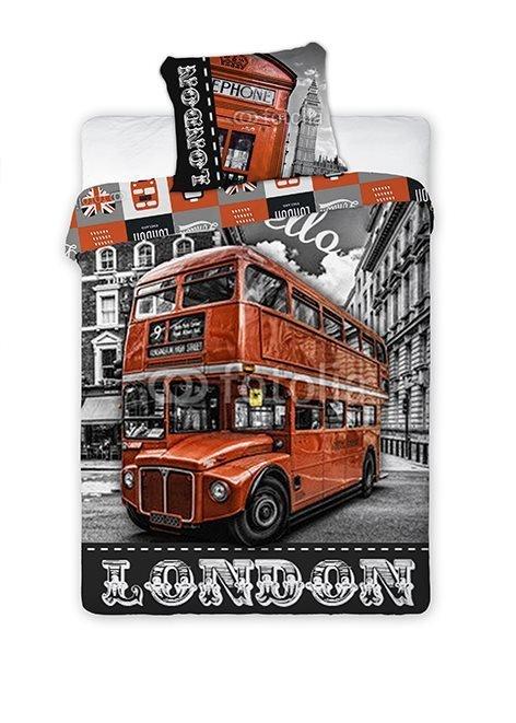 Pościel młodzieżowa 100% bawełna 160x200 lub 140x200  - London - 02