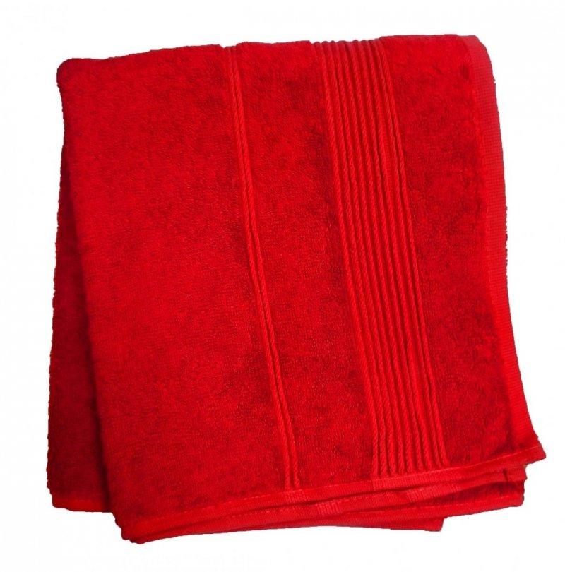 Ręcznik Bambusowy Moreno rozmiar 70x140 - Czerwony