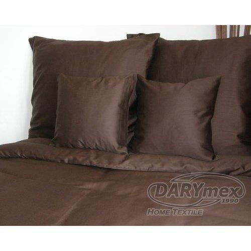 Poszewka na poduszkę 50x60 - 100% bawełna satynowa, zapięcie na zamek kolor brązowy