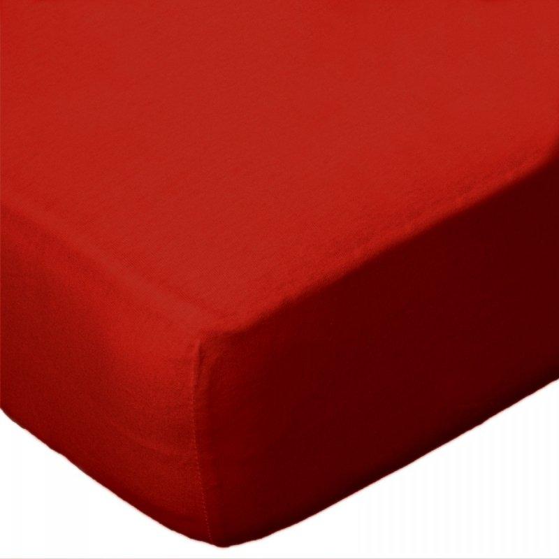 Prześcieradło JERSEY 60x120 na gumkę wz. D029 (czerwony)