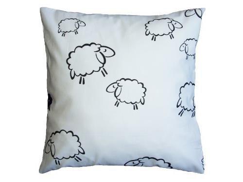 Poszewka na poduszkę BARANKI 70x80 - 100% bawełna, wz. białe