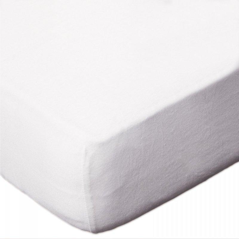 Prześcieradło JERSEY 60x120 na gumkę wz. D001 (biały)