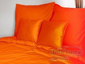 Poszewka na poduszkę 70x80 - 100% bawełna satynowa DARYMEX, zapięcie na zamek wz. pomarańcz 035