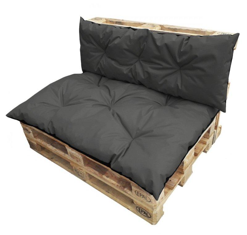 Duży komplet poduszek ogrodowych na palety wz. Szary