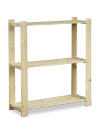 Holzregal 3 Böden 90x80x28 cm, B-26, Unbehandelt
