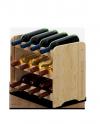 Weinregal für 12 Flaschen RW-3-12 (43x26,5x38), Unbehandelt, Erlen, Braun