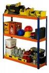 Metallregal Werkstatt Schwerlastregal Helios 090x050x50_3 Böden, Tragkraft bis 175 Kg pro Boden,  Viele Farben zur Auswahl, Quadratisch