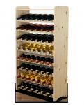 Weinregal für 56 Flaschen Massiv RW-3-56P (72x26,5x118), Unbehandelt, Erlen, Braun