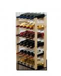 Weinregal für 30 Flaschen RW-1-30 (53x25x86), Unbehandelt, Erlen, Braun