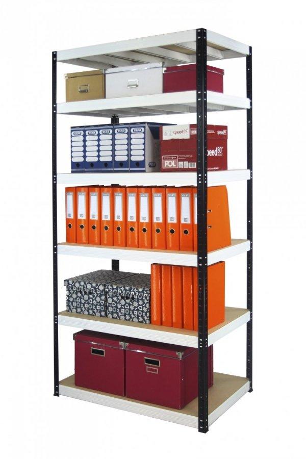 Metallregal Werkstatt Schwerlastregal Helios 196x075x60_6 Böden, Tragkraft bis 400 Kg pro Boden,  Viele Farben zur Auswahl