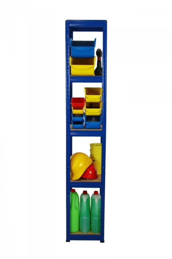 Metallregal Werkstatt Schwerlastregal Helios 180x030x30, 5 Böden, Tragkraft bis 175 Kg pro Boden,  Viele Farben zur Auswahl, Quadratisch